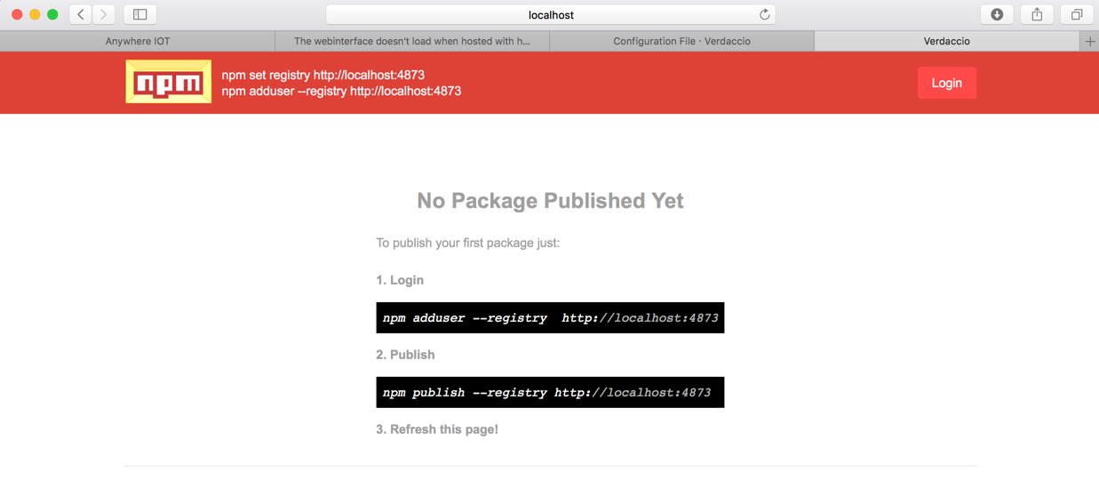 Mantaining a private npm registry with Verdaccio